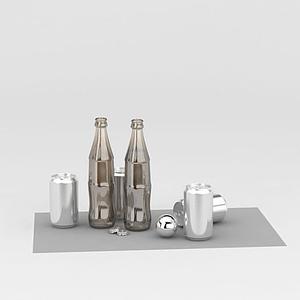 玻璃瓶易拉罐模型