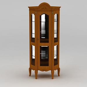 3d六角酒柜模型