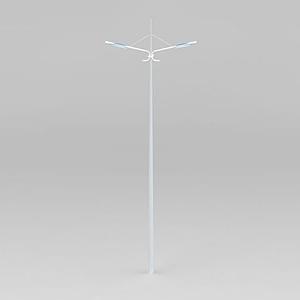 雙頭高桿路燈模型