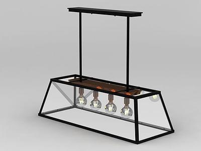 3d創意餐廳吊燈免費模型