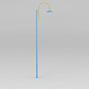 公園路燈罩燈模型