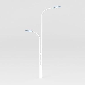 高低桿路燈模型