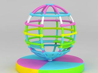 兒童游樂設備地球儀模型