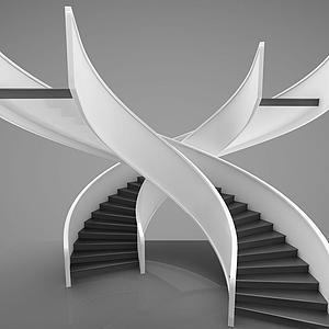 現代風格樓梯模型