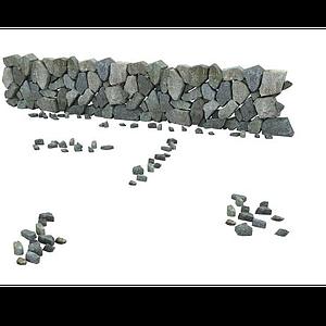 村莊石墻模型