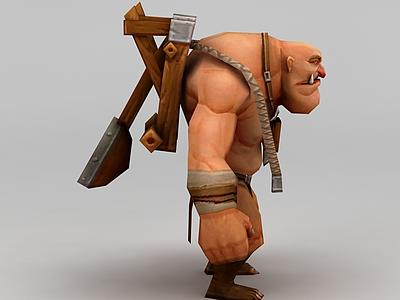 3d召喚師聯盟石頭人模型