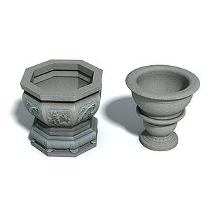 石雕魚缸模型