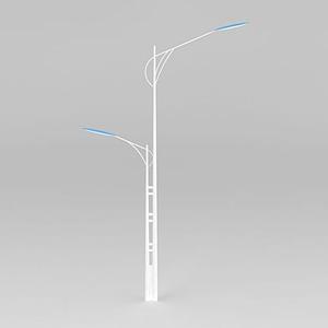 雙柱路燈模型