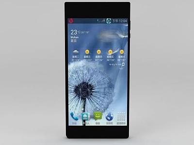 3d華為榮耀3c手機模型