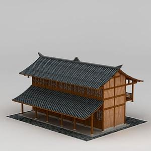 3d仿古<font class='myIsRed'>日式建筑</font>模型
