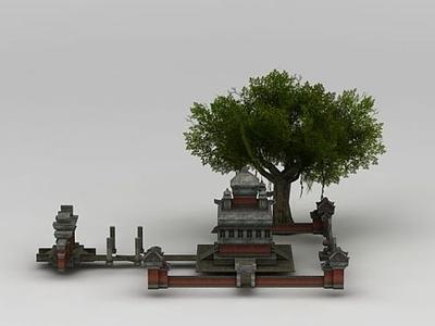3d游戲場景總壇模型