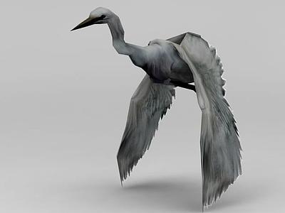 3d游戲動畫白鷺模型