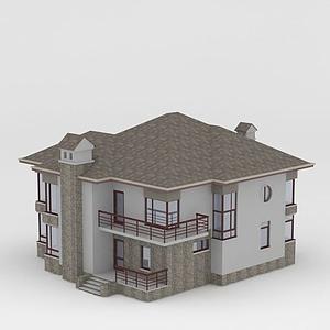 3d經濟型別墅模型