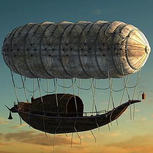 遠古飛艇空氣飛船模型