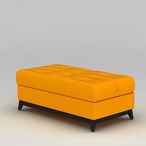 3d北歐黃色沙發榻模型