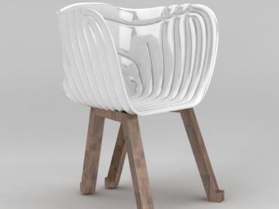 3d休閑塑料座椅模型