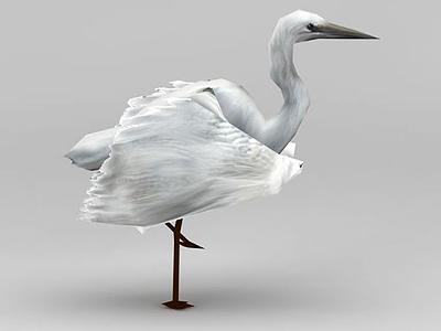 3d游戲白鷺模型