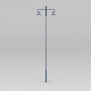 古典雙耳路燈模型