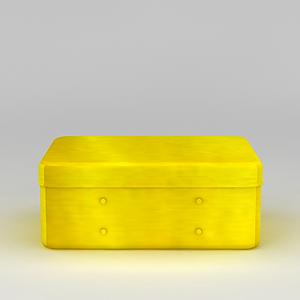 3d黃色儲物盒模型