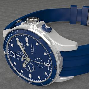 藍色運動手表模型