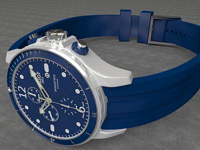 藍色運動手表模型3d模型