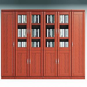 傳統辦公書柜文件柜書櫥模型