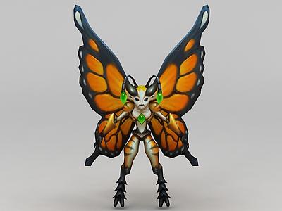 3d召喚師聯盟蝴蝶獸模型
