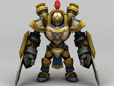 3d召喚師聯盟戰士模型