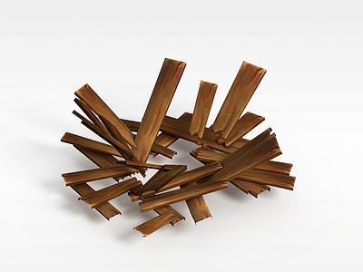 3d召喚師聯盟游戲素材木頭模型