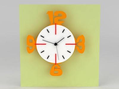 3d創意可愛鐘表免費模型