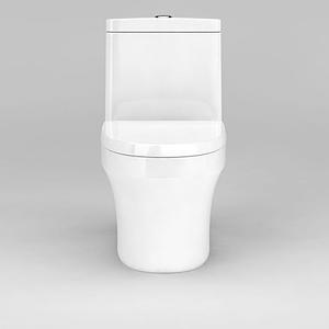 白色精品馬桶坐便器模型