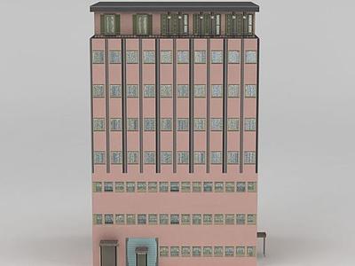 3d精品室外建筑高樓模型