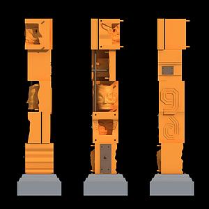 三星堆景觀柱模型