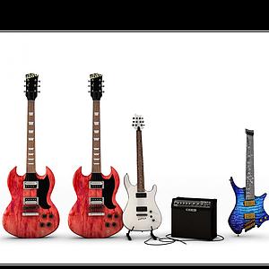 3d电吉他模型