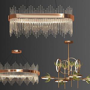 現代吊燈模型