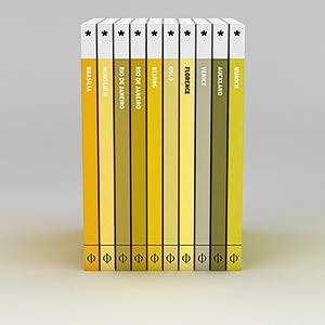 3d黃色系列書冊模型