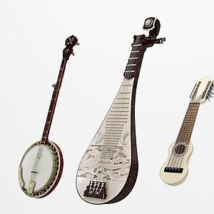 3d琵琶琴模型