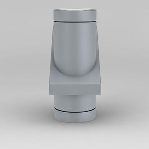 現代灰色金屬射燈模型