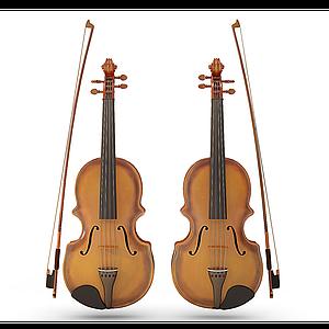 3d小提琴模型