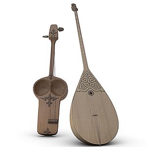 3d乐器琵琶模型