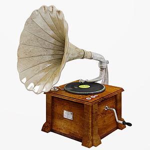 3d留声机模型