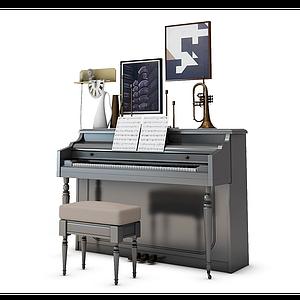 3d钢琴模型