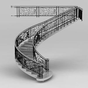 旋轉豪華樓梯模型