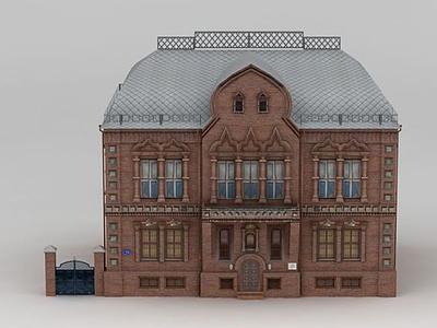 3d歐式居民樓建筑模型
