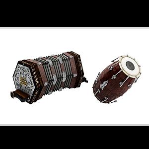 3d手鼓模型