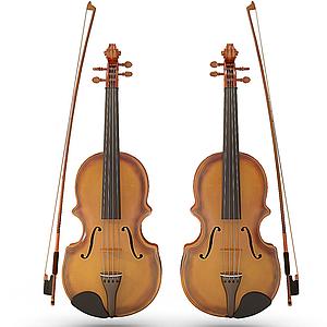 3d手提琴模型
