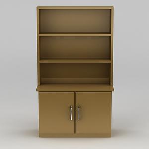 3d簡約黃色儲物柜模型