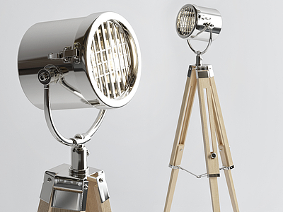 3d創意金屬落地燈模型