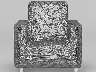 3d創意木藤沙發模型