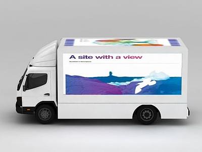 3d廣告小篷車模型